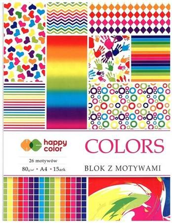 Blok z motywami A4 COLORS happy color