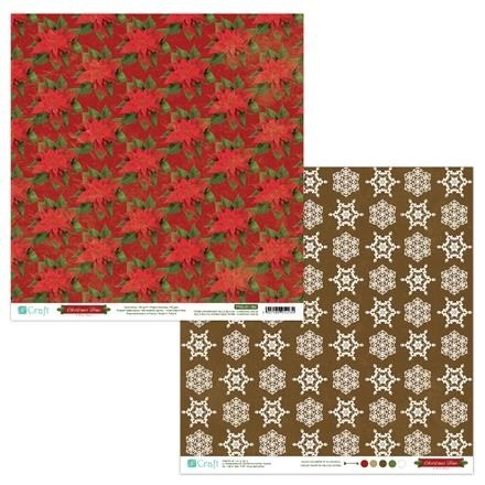Papier do scrapbookingu dwustronny 30,5 x 30,5 cm CHRISTMAS TIME 06 dpCraft