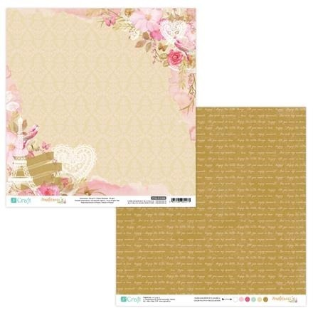 Papier do scrapbookingu dwustronny 30,5 x 30,5 cm TENDERNESS 03 dpCraft
