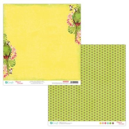 Papier do scrapbookingu dwustronny 30,5 x 30,5 cm TROPICAL DREAMS 02 dpCraft