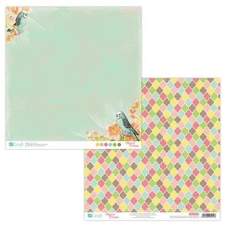 Papier do scrapbookingu dwustronny 30,5 x 30,5 cm TROPICAL DREAMS 04 dpCraft