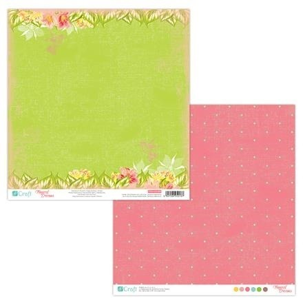 Papier do scrapbookingu dwustronny 30,5 x 30,5 cm TROPICAL DREAMS 06 dpCraft
