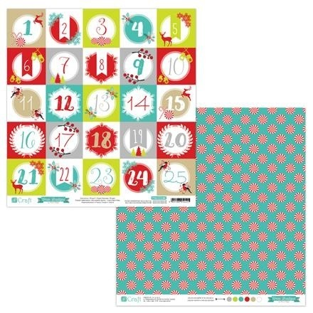 Papier do scrapbookingu dwustronny 30,5 x 30,5 cm XMAS BOUTIQUE 08 dpCraft